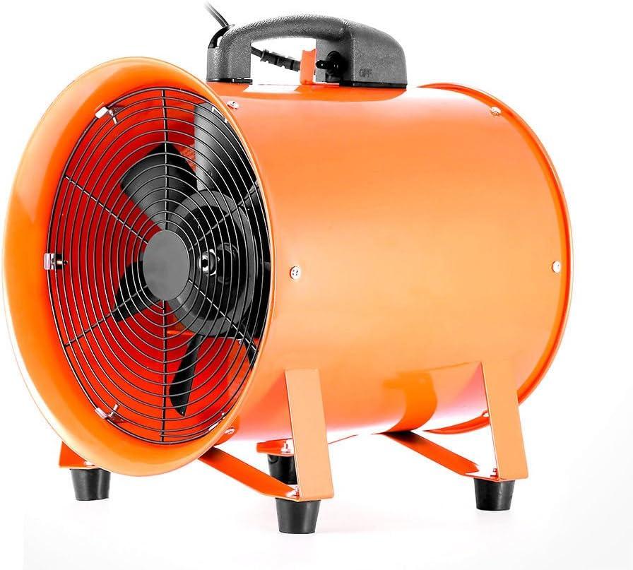 Ventilador axial portátil de 300 mm de diámetro con conducto de 5 ...