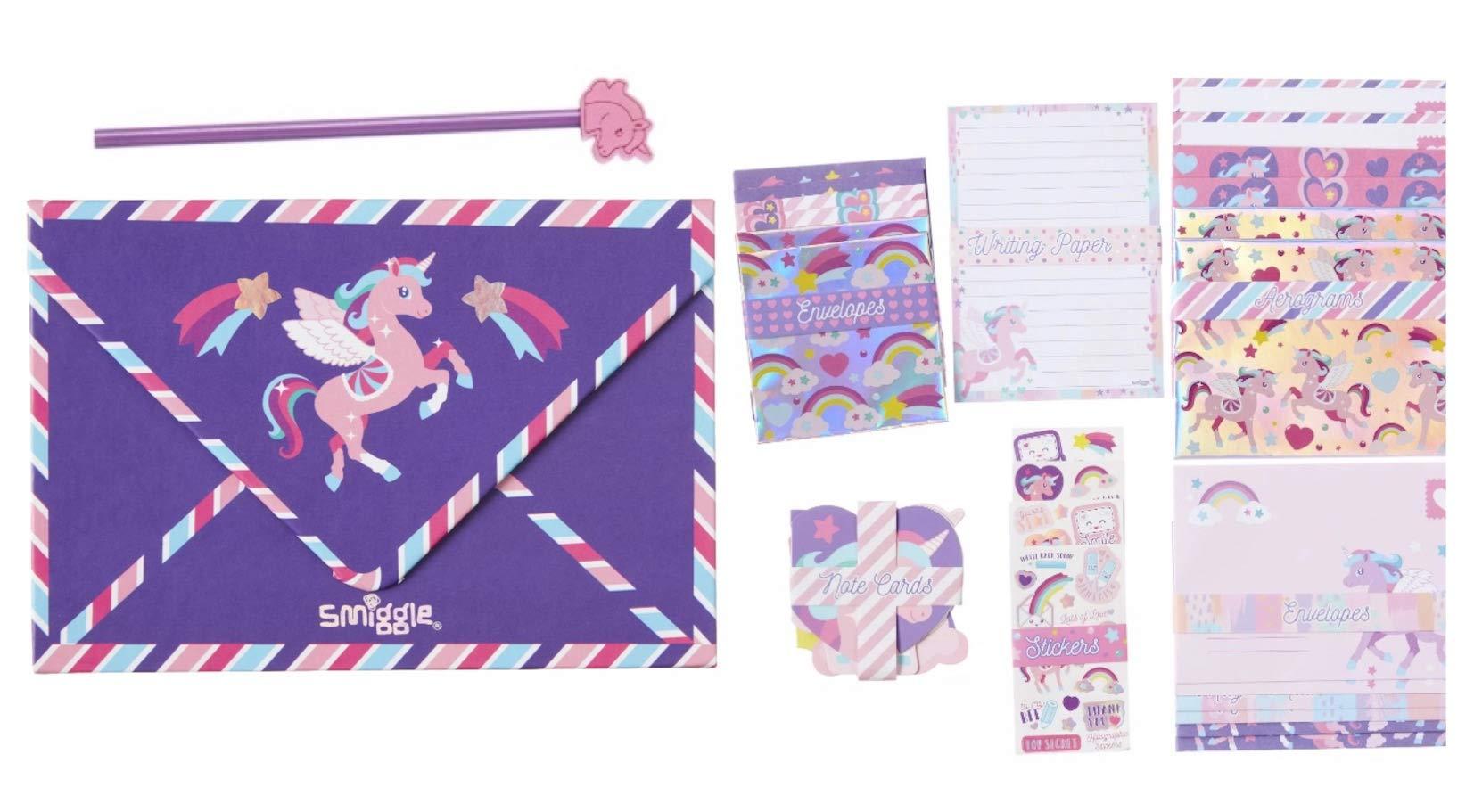 Paper Magical Unicorn Kids Writing Set Postcards Envelopes Stationery Set