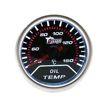 WINOMO 52MM /Öltemperaturanzeige f/ür Auto Motorrad 12V
