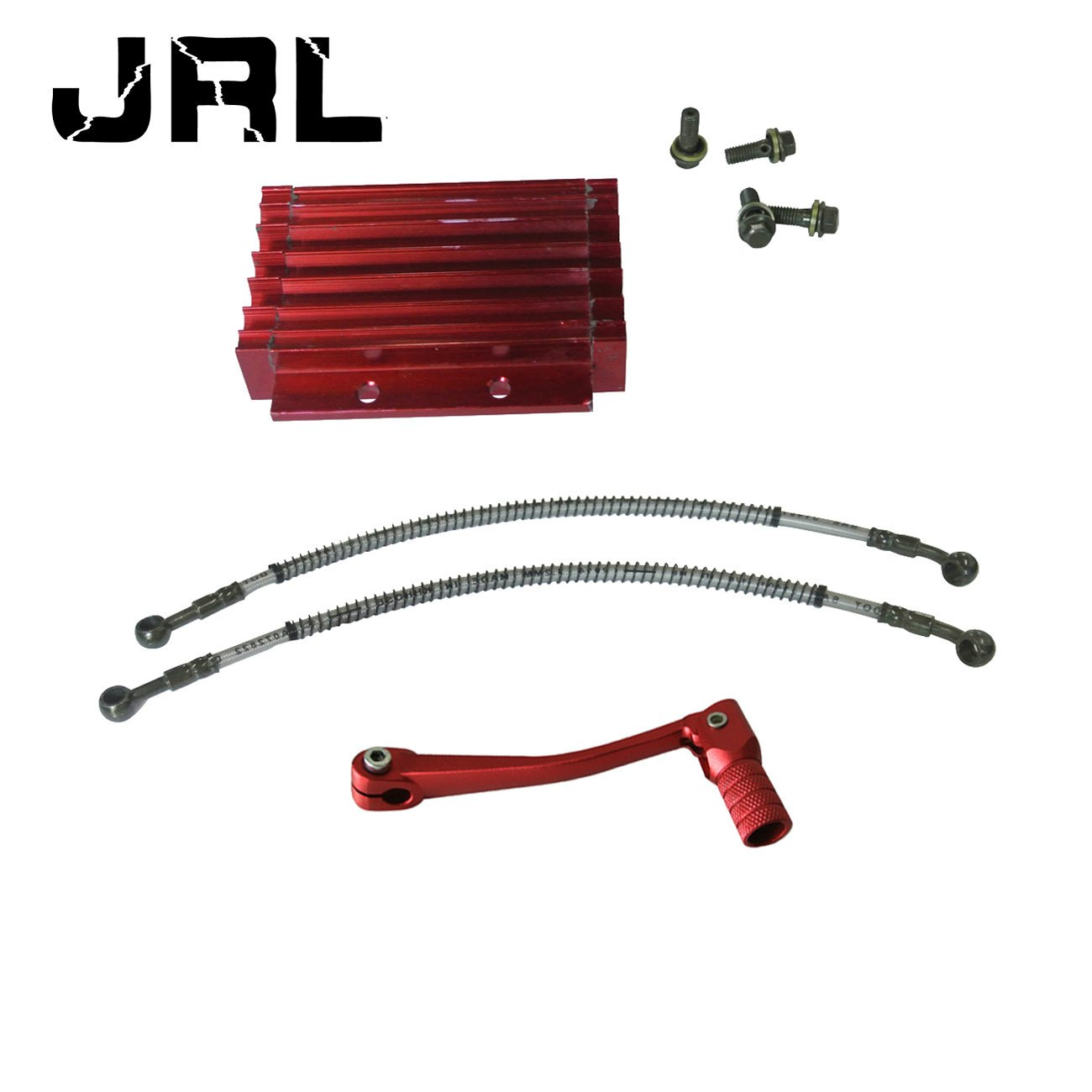 JRL Aluminum Oil Cooler Set Radiator Cooling Shift Lever For 125cc ATV Dirt Pit Bike