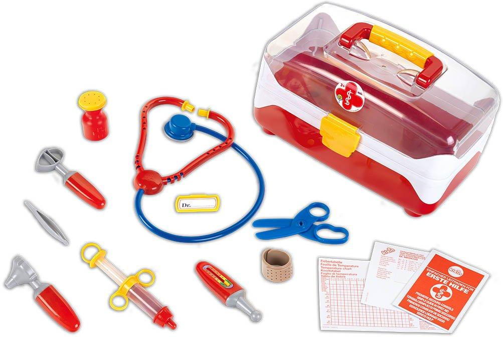 Theo Klein 4685 - Arztkoffer, groß, transparent groß Sonstiges Spielzeug