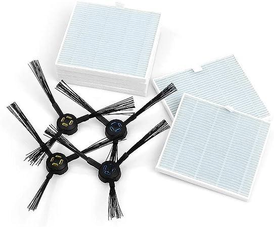 ILIFE V8s Robot aspirador piezas de kit de sustitución piezas de robot de limpieza, cepillos laterales y filtro: Amazon.es: Hogar