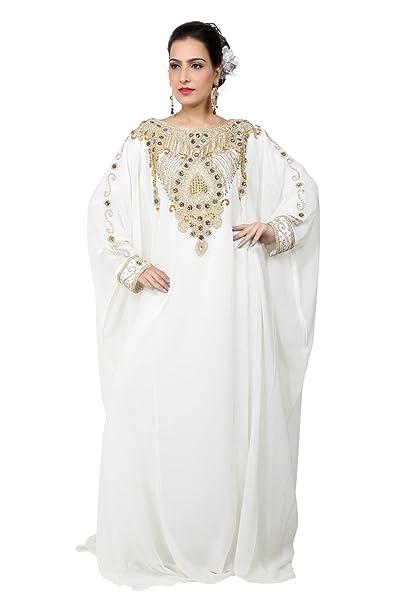 Bedis UAE Estilo Mujer Farasha Maxi árabe Kaftan islámico vestido largo - Tamaño único - (