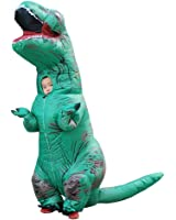 Wecloth Christmas Costume Inflatable Dinosaur Costume Xmas T-Rex Colorful T Rex Jurassic Outfit