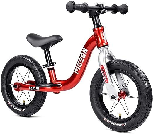 Bicicleta sin pedales Bici Bicicleta Ligera de Equilibrio - Bicicleta Deportiva de Aluminio para niños pequeños y niñas de 2/3/4/5/6 años, niños pequeños/niños Primera Bicicleta, neumáticos de 12 PU: Amazon.es: Hogar