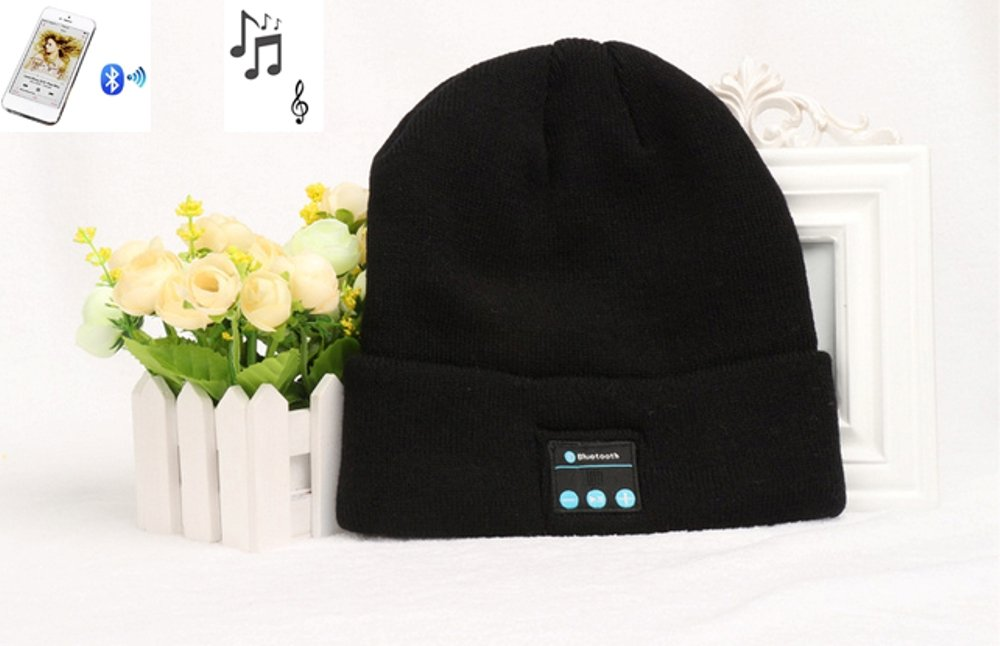 """Jack Seller"" Bluetooth V4.0 Headphone Headset Music Audio Beanie Hat with Speaker & Mic Hands Free for Women & Men Outdoor Sport, Compatible with All Bluetooth-Enabled Smart Phones (CLN-M1-BK)"