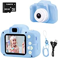 Digital Camera for Kids, 1080P FHD Kid Digital Video Camera Children Camera with 32GB SD Card for 3-10 Years Girls (blue…