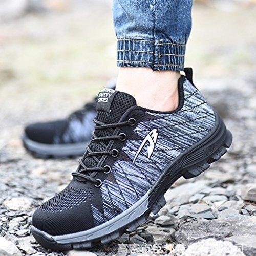 de Mujer Calzado Unisex Calzado Calzado Hombres Zapatos Pareja Gris Zapatos Transpirables Trabajo de Zapatos Seguridad Zapatos Deportivo de wqHRAZ