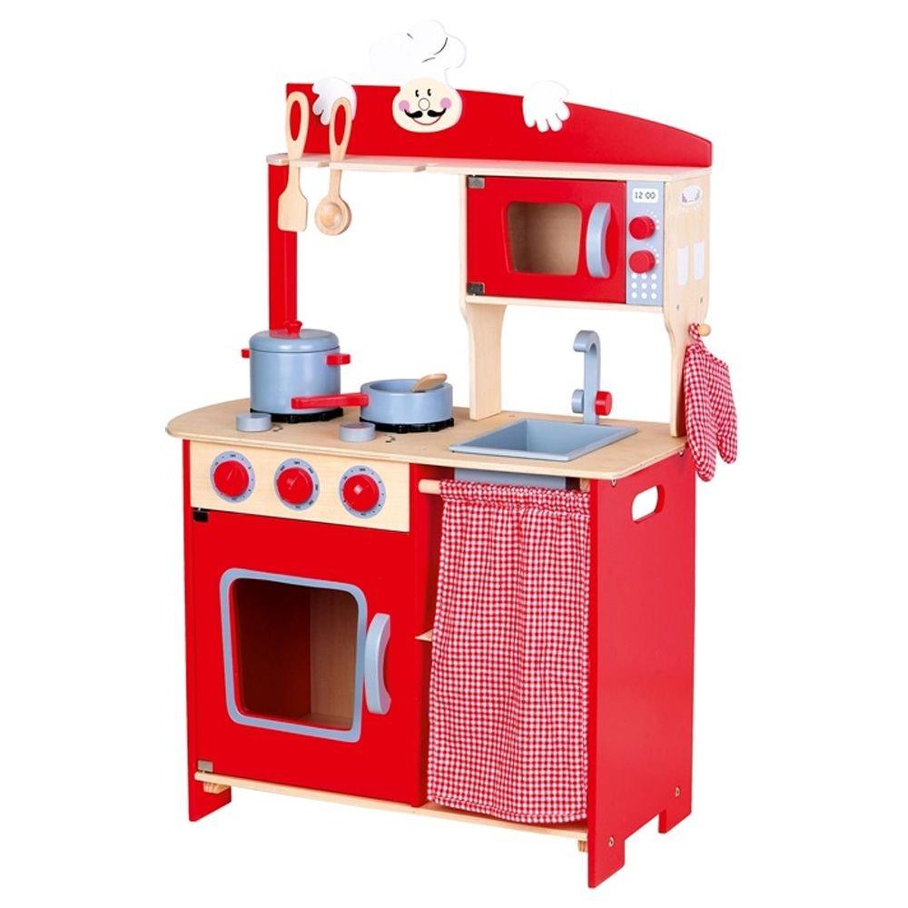Küchenchef Kinder hölzerne Rolle spielen Spielzeug mit Zubehör