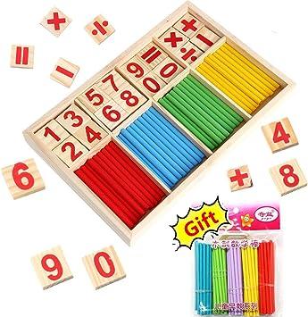 BETOY Caja de Matemáticas, Stick de Madera de Juguete Juguetes ...