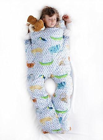 Norkid ORIGINAL. Sacos de dormir infantiles con piernas. Talla 3 años. Relleno GRUESO, Modelo SELVA.: Amazon.es: Hogar