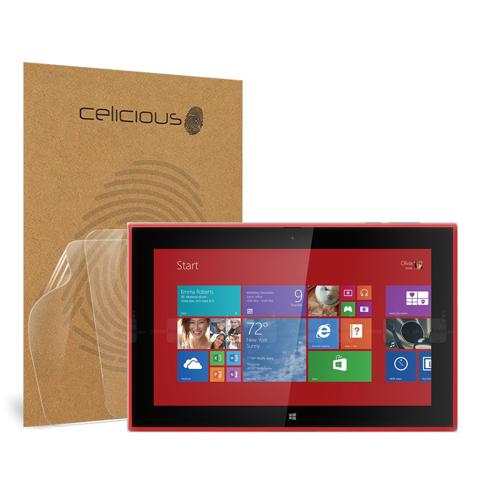 Celicious Vivid Invisible Glossy HD Screen Protector Film Compatible with Nokia Lumia 2520 [Pack of 2] by Celicious