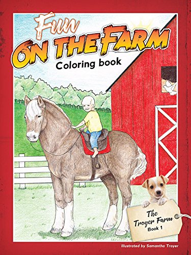 (Set of 6 Fun on The Farm Coloring Book Happy Barnyard Animals to Color)