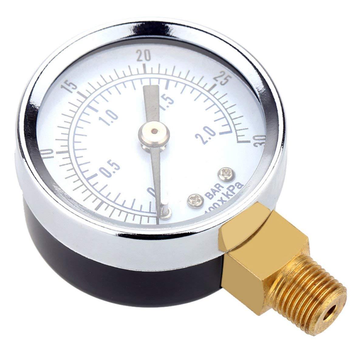 TS-Y50I 0-30 PSI Luftkompressor Gauge 2 zoll Gesicht Seitenmontage 1/8'NPT Hydraulische Druckluft Manometer Tester Vermesser Moliies
