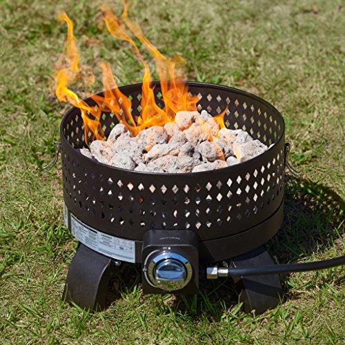 Fire Sense 62133 Sporty Campfire Portable Gas Fire Pit, Mocha