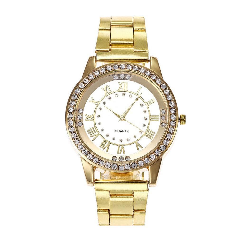 BBestseller Reloj para Mujer,Moda Metal del Diamante Lujo Venda Cuarzo Analógico Reloj Pulsera Impermeable Reloj Fitness (C): Amazon.es: Relojes