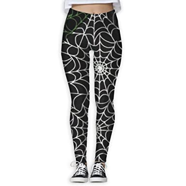 a251db8a65710 Amazon.com: Spotrpant Spider Web Glow In The Dark Women Printed Full-Length Yoga  Workout Leggings For Running Outdoor Sports: Clothing
