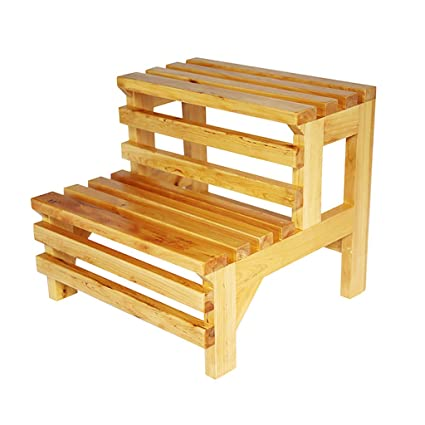 Gai Hua Home Steps U0026 Ladders Ladders Solid Wood Double Step Stools Shoes Stool  Bathtub Step