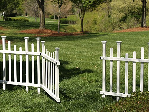 Zippity Outdoor Products ZP19028 Unassembled Madison Vinyl Gate Kit with Fence Wings, White by Zippity Outdoor Products (Image #1)