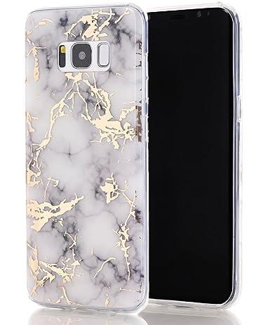 detailed look fe352 bb4ef Galaxy S8 Case,Samsung Galaxy S8 Case,Spevert Marble Pattern Hybrid Hard  Back Soft TPU Raised Edge Ultra-Thin Shock Absorption Scratch Proof Slim ...