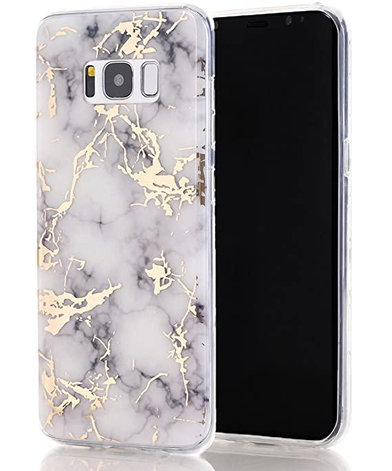 Galaxy S8 Case,Samsung Galaxy S8 Case,Spevert Marble Pattern Hybrid Hard Back Soft Tpu Raised Edge Ultra Thin Shock Absorption Scratch Proof Slim Protective Case For Samsung Galaxy S8   White by Spevert
