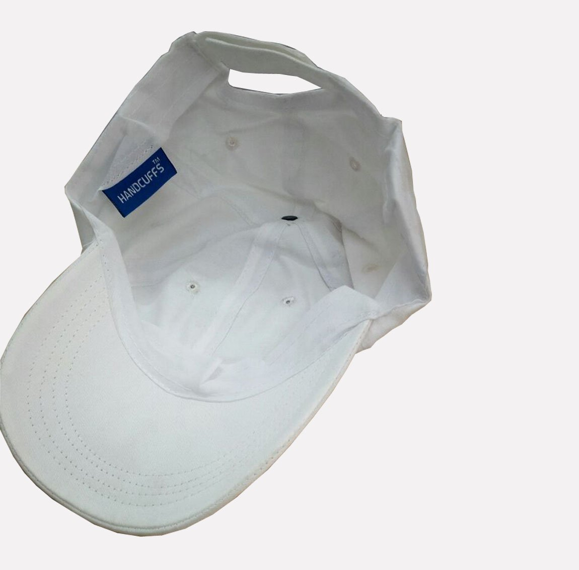 85eac02fa44627 Buy Handcuffs Elasticized-Fabric Cotton Adjustable Plain Baseball Cap  (White) Online at Low Prices in India - Amazon.in