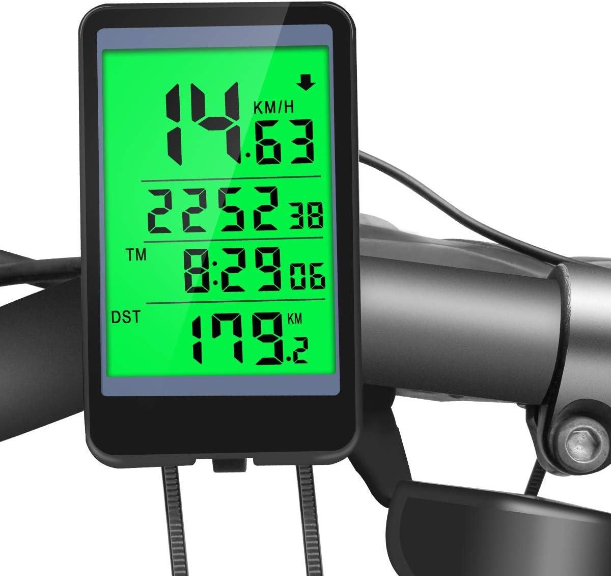 Waterproof For Bicycle Bike Digital Speedometer Cycle Odometer LCD WIRELESS