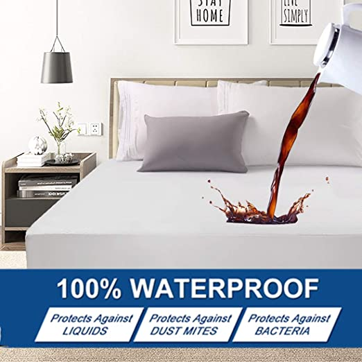Waterproof Mattress Cover Deep Pocket Fit Protector Pad Soft Bedding Allergy