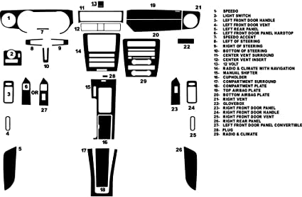 Rdash Carbon Fiber Dash Kit for Ford Mustang 2001-2004