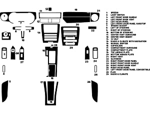 Rdash Dash Kit Decal Trim for Ford Mustang 2010-2014 - Carbon Fiber 4D (Red)