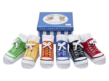 bae56327a1e1 Baby Infant Toddler Boy Shoe Look Socks-Anti slip Soles - Soft Cotton - 6