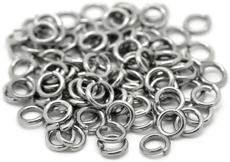 x1.4mm 1//2 Valyria 200pcs Stainless Steel Open Jump Rings Connectors Jewelry Finding Silver Tone 13