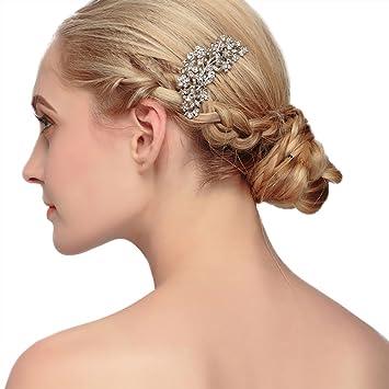 Amazon Com Bueer Bridal Crystals Hair Side Comb