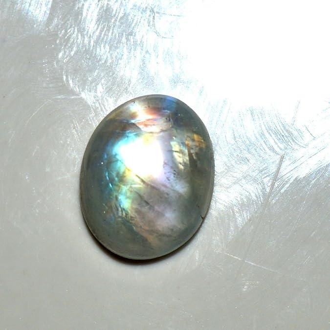 55/carats arc-en-ciel Pierre de Lune 4/carat Original Naturel ovale Pierre pr/écieuse de courroie