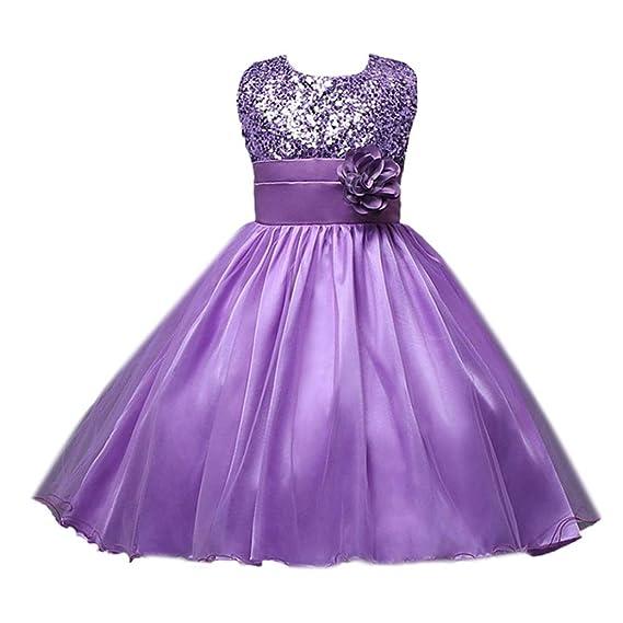 RETUROM Vestido de niña, Vestido de la Princesa de la Fiesta de cumpleaños de la Boda del Desfile de la Muchacha de la Manera o Vestido de la Dama de ...