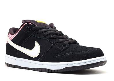 a334ba08f815 Nike Mens Dunk Low Prem SB Firecracker Black White-Challenge Red Synthetic  Size 10