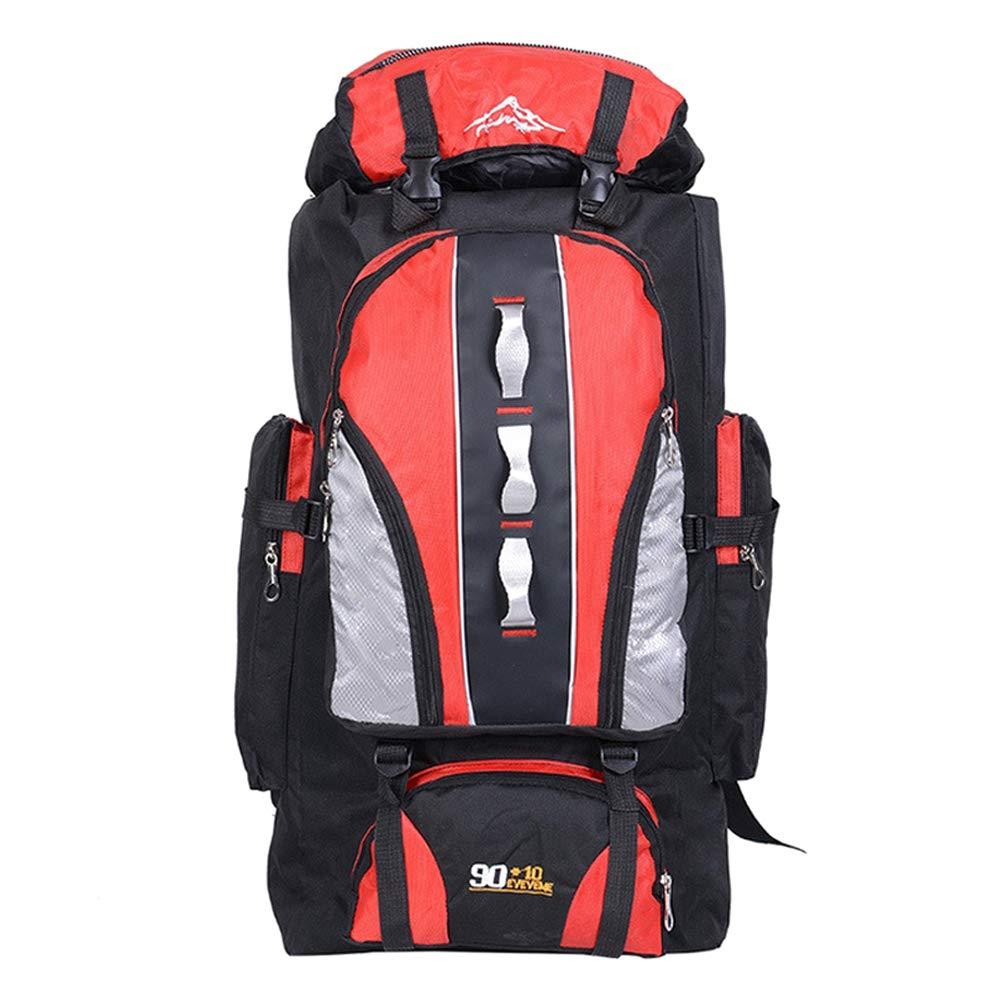Rouge  KINDOYO 100L Sac à Dos de randonnée - Imperméable Nylon Sport Trekking pour Voyage Camping Homme Femme, Bleu, 100L