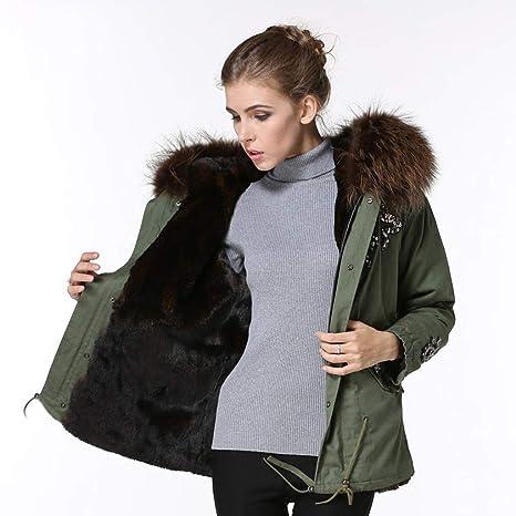 Chaquetas Mujer/Ropa de Abrigo algodón para Mujer Abrigo de Cuello de Piel Abrigo de