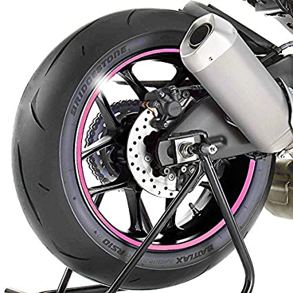 Adhesivos para Llantas Moto Kawasaki Ninja 300 rosa: Amazon ...