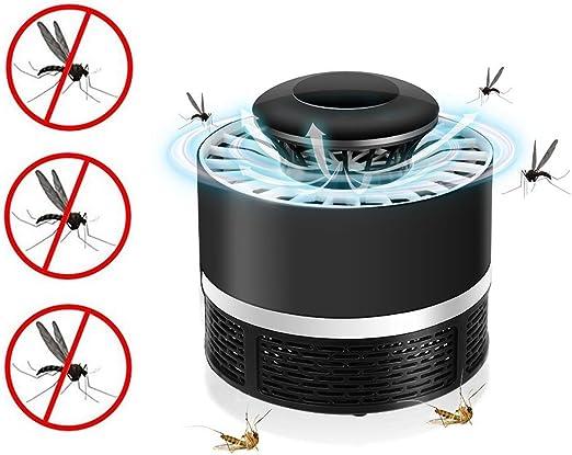 Atrapa Mosquitos Jardin Lampara Fly Bug Zapper led, Mata Mosquitos Eléctrico Interior Mata Insectos con Luz Ultravioleta USB, Sin Productos Químicos (Negro): Amazon.es: Jardín