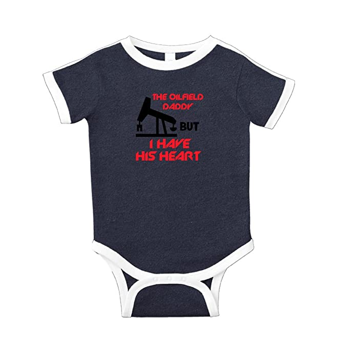 0bcee2c2 Oilfield Has Daddy But I Have His Heart Cotton Short Sleeve Crewneck Unisex  Baby Soccer Bodysuit