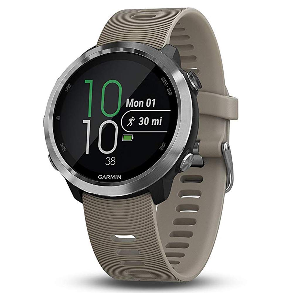 Garmin Forerunner 645 Bundle with Extra Band & HD Screen Protector Film (x4) | Running GPS Watch, Wrist HR, LiveTrack, Garmin Pay (Sandstone, White) by PlayBetter (Image #2)