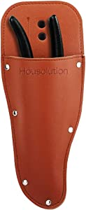 Housolution Garden Pruner Sheath, Premium PU Leather Holster Protective Case Cover Scabbard for Gardening Pruning Shears Scissor - Brown