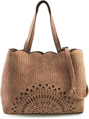 ... LEANNA DBL ZIP LASER CUT CROSSBODY BAG. VIOLET RAY LOGAN WHIPSTITCHED  SATCHEL. VIOLET RAY MEDALLION PERF STUDDED TRIPLE COMP TOTE WITH SCALLOPED  TRIM a85e85d9f542a