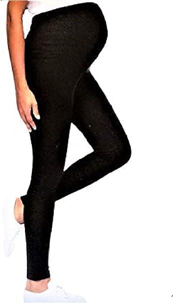 Leggings PREMAMAN MERITEX TG. M Art. 3751 Maman algodón negro suave cintura alta: Amazon.es: Ropa y accesorios