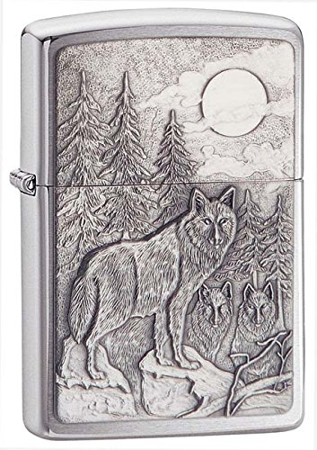 Zippo Pipe Lighter: Timberwolves Emblem - Brushed Chrome 20855PL