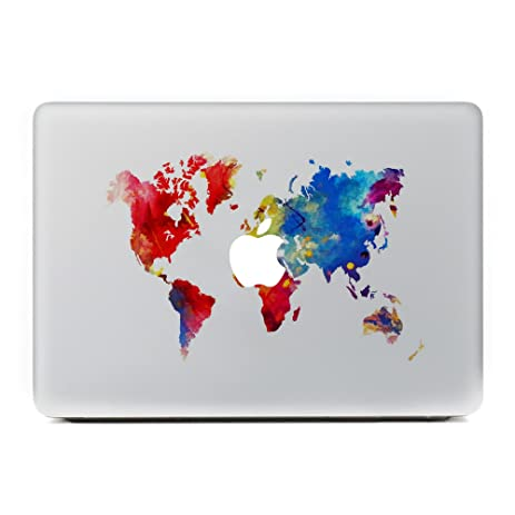 Amazon gtnine world map laptop decal cover sticker vinyl gtnine world map laptop decal cover sticker vinyl protector skin for apple macbook air pro mac gumiabroncs Choice Image