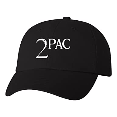 5cffdac5fad TShirtGuys 2Pac White Logo Dad Hat Thug Life Adjustable Baseball Cap ...