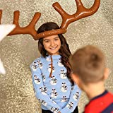 Christmas Shop Inflatable Reindeer Antler Ring Toss Game (One Size) (Brown)