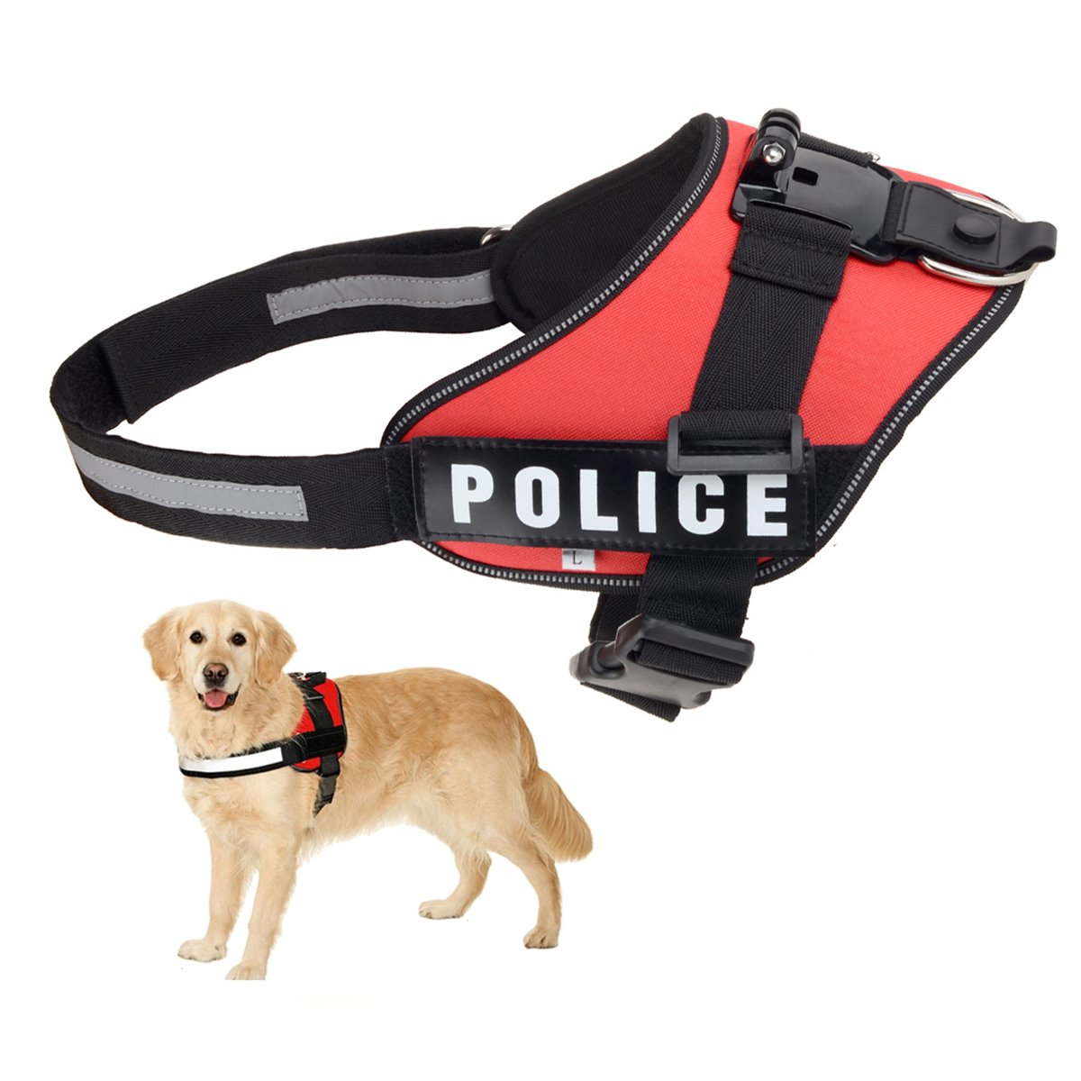 FOTOWELT para perro ajustable Fetch Arnés Cinturón de pecho Cinturón Monte Para Cámara GoPro Hero 1 2 3 + 4 Dazzne P2, SJ4000, SJ5000, SJCAM Xiaomi Yi: ...